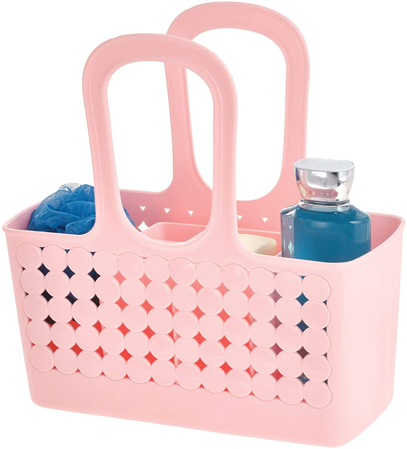 Plastic Bathroom Shower Tote Small Divided College Dorm Shower Caddy For Shampoo Conditioner Soap Cosmetics Beauty Products Blush Walmart Canada