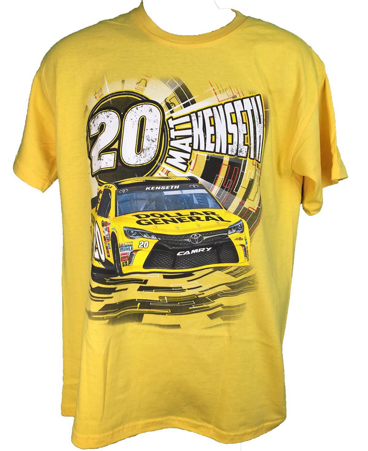 2016 Nascar Matt Kenseth Dollar General #20 Speedbolt Adult T-Shirt (3X) by Checkered Flag
