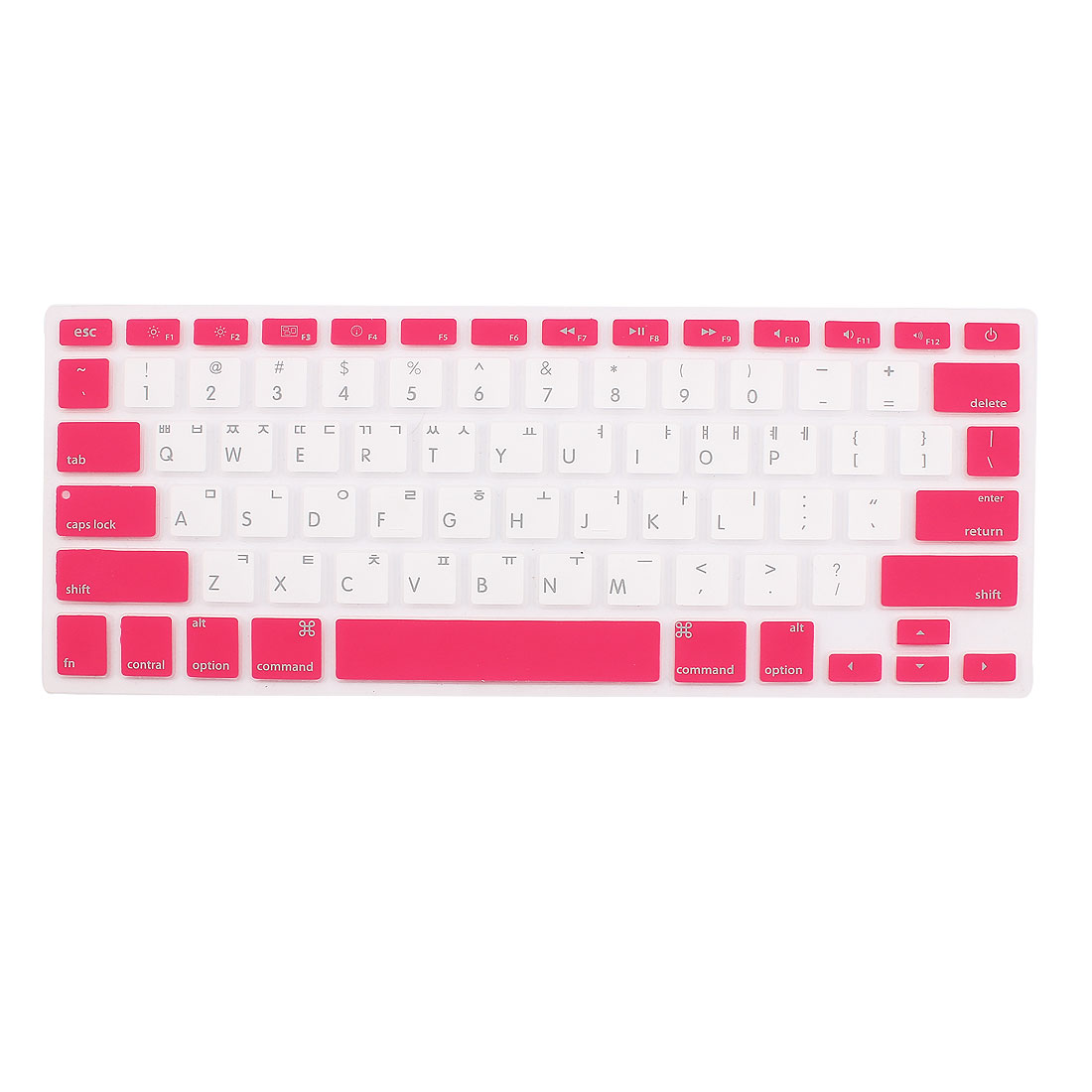 """Korean Silicone Keyboard Skin Cover White Red for Apple Macbook Air 13""""15""""17"""""""