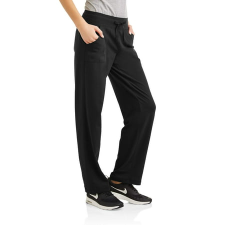 Cotton Spandex Knit Pants - Athletic Works Women's Essential Athleisure Knit Pant Available in Regular and Petite
