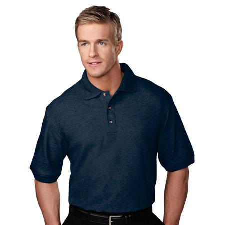 Tri Mountain Mens Big And Tall Jacquard Knit Golf Shirt