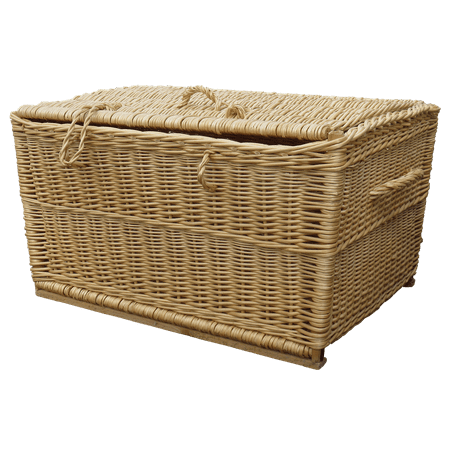 LAMINATED POSTER Wicker Wicker Basket Basket Ware Laundry Basket Poster Print 24 x 36