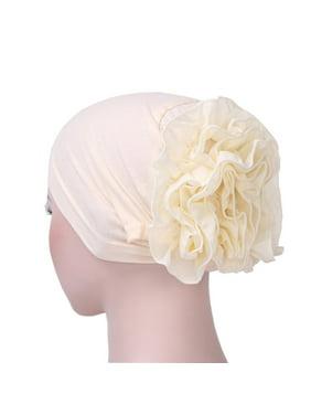b04c547d1f0e3d Product Image Women Flower Muslim Ruffle Cancer Chemo Hat Beanie Scarf  Turban Head Wrap Cap
