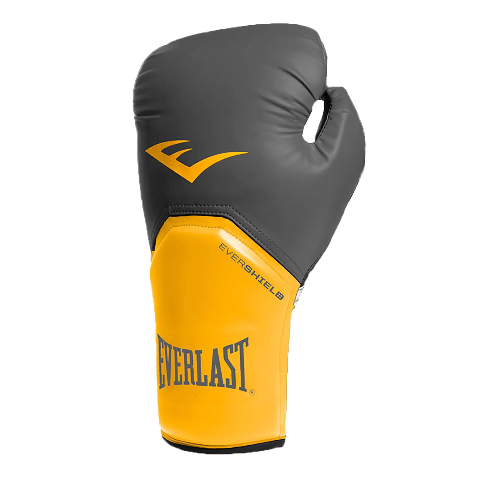 Everlast 16 Ounce Pro Style Elite Advanced Cardio Punching Bag MMA Kickboxing and Boxing Training Gloves Black