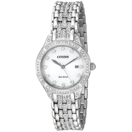 Eco-Drive Silhouette Crystal Ladies Watch EW2320-55A
