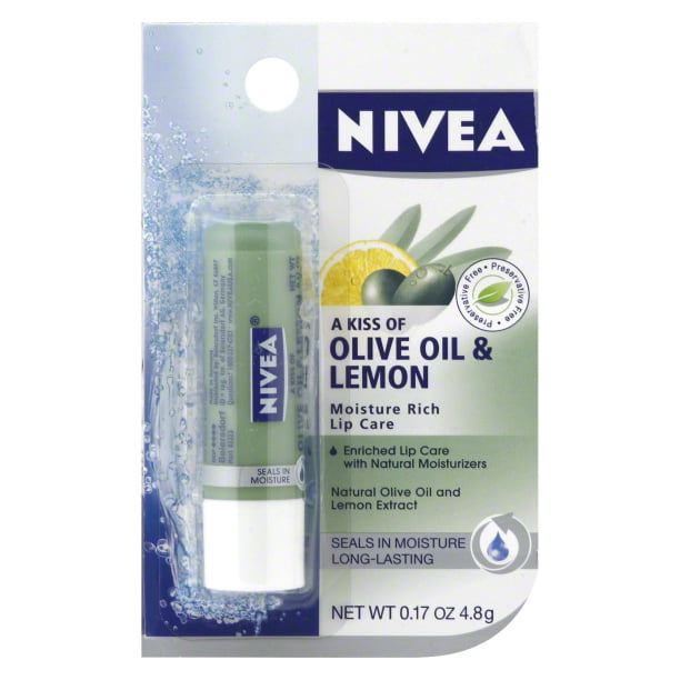 Nivea A Kiss of Olive Oil & Lemon Moisture Rich Lip Care, 0.17 oz
