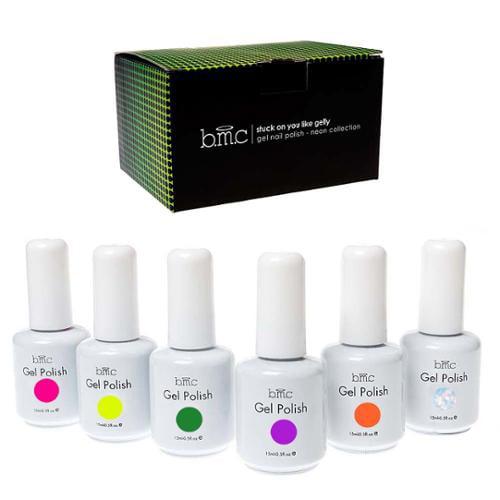 BMC 6pc Set UV/LED Gel Lacquer Nail Art Polish Manicure Collection-Color: NEONS