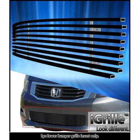 Honda Accord Billet Grille - Fits 08-10 Honda Accord Sedan Black Bumper Stainless Steel Billet Grille Insert