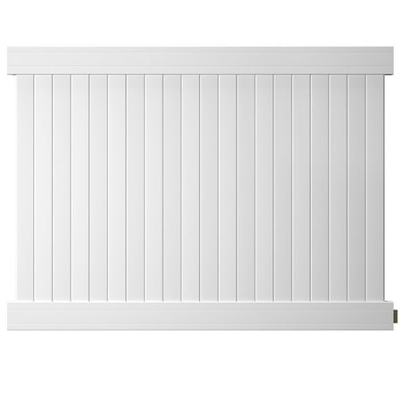 Outdoor Essentials Pro Series Hudson 6 ft. x 8 ft. White Vinyl Privacy Fence Panel