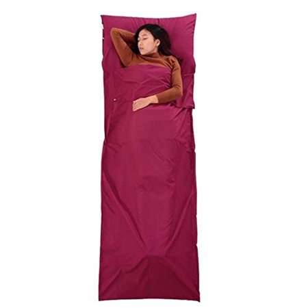 Compact Cotton Sleeping Bag Liner Camping Sheets For Travel Youth Hostels Picnic