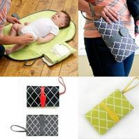 Baby Changing Pad Portable Infant Diaper Bag Waterproof Storage Organizer Mat