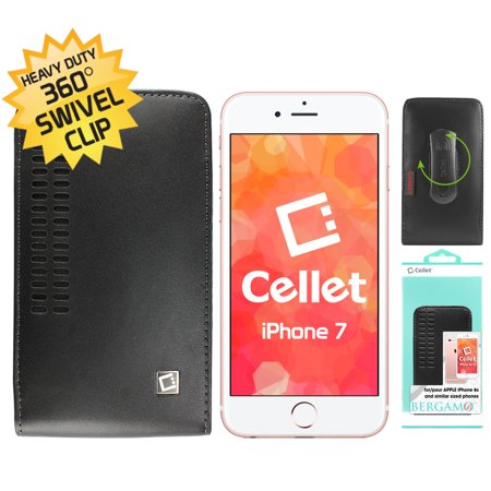 Cellet Bergamo Case for Apple iPhone 8, 7, 6S, 6 Samsung Galaxy S8 S7 S6 S5 S4 S3 and similar size phone with Cellet Removable Spring