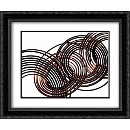206 Matt - Intertwined VIII 2x Matted 24x20 Black Ornate Framed Art Print by Burkhart, Monika