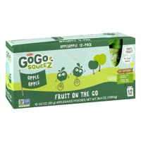 GoGo squeeZ Applesauce Apple 3.2oz 12PK