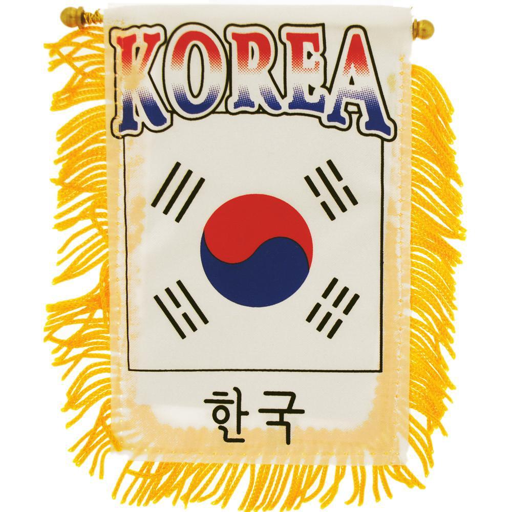 "South Korea Flag Mini Banner 3"" x 5"""