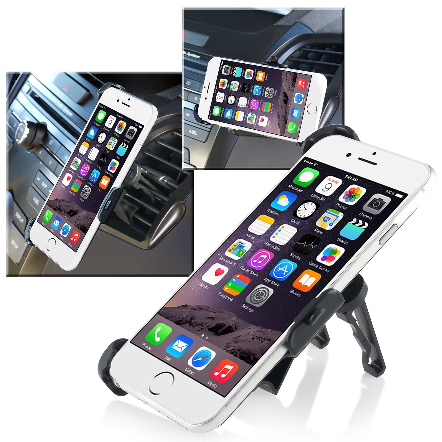 "Insten Car Air Vent Mount Phone Holder Cradle For Apple iPhone 6S 6 4.7"" (Perfect fit)"