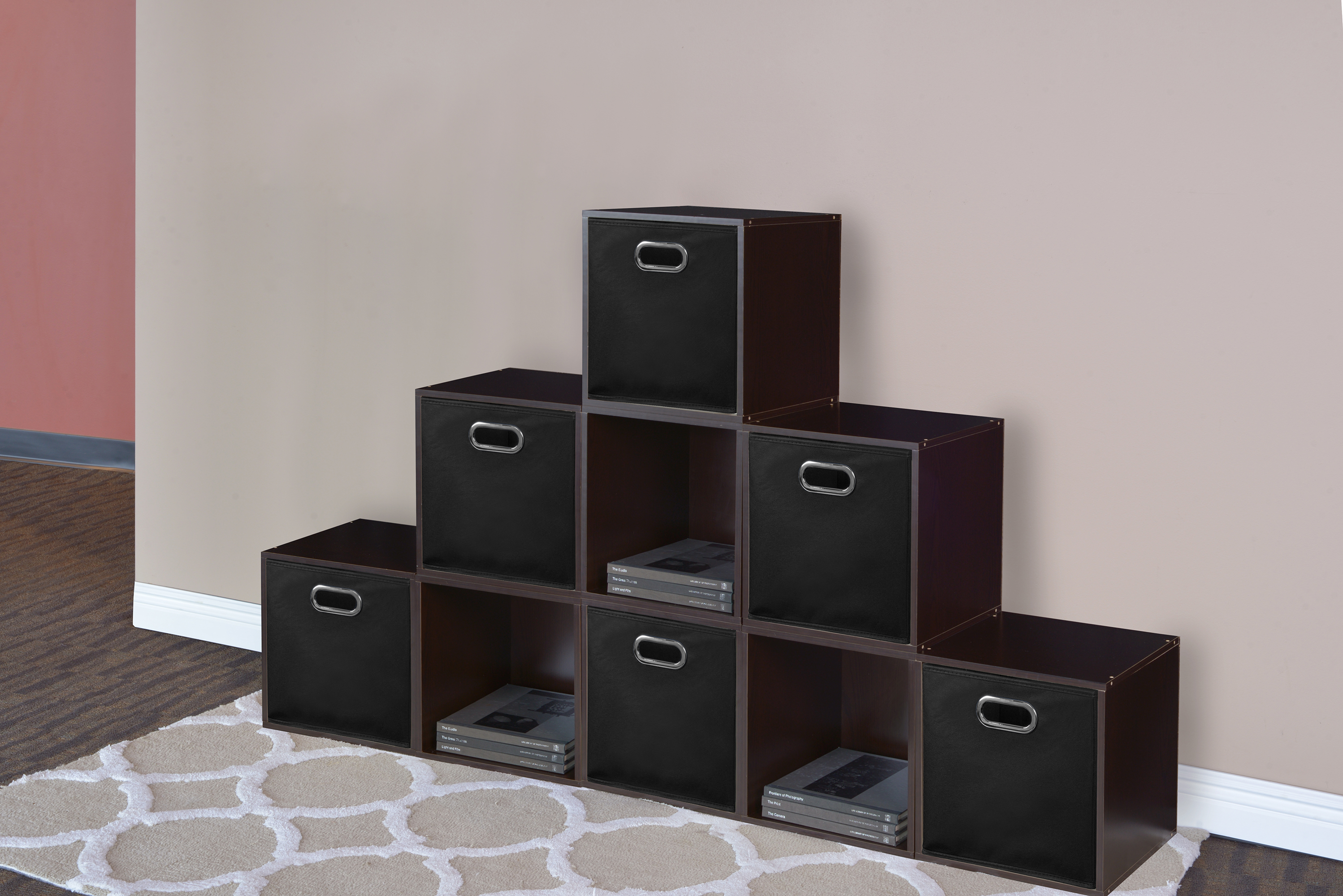 Click here to buy Niche Cubo Foldable Fabric Storage Bin, Set of 6- Natural by Regency.