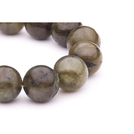 Round - Shaped Black-Green Jade Beads Semi Precious Gemstones Size: 14x14mm Crystal Energy Stone Healing Power for Jewelry