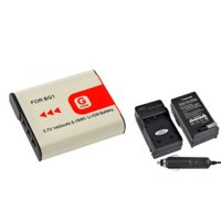 Insten Car + AC Wall Travel Charger + NP-BG1 G Type Lithium Ion Battery for Sony CyberShot DSC-W80 W30 W55 W290 W300 H10 H20 H50 H55 H70 H90 H3 H7 H9 DSC-T100 T20 DSC-HX9V HX5V Camera
