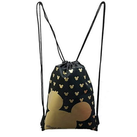 MICKEY MOUSE BACKPACK DRAWSTRING BACKPACK SLING TOTE BAG NWT GOLD (Character Slings)