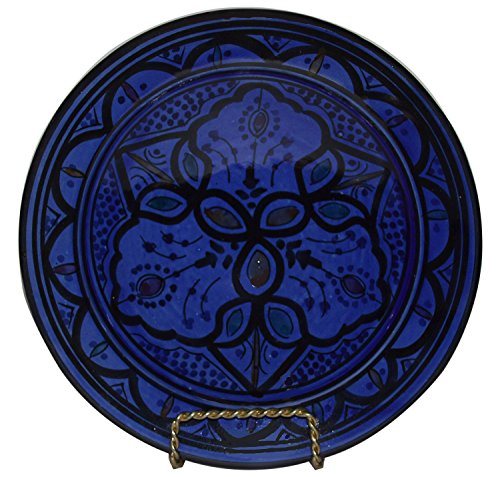 Ceramic Plates Moroccan Handmade Appetizer Tapas Serving Decorative 10 inches Round