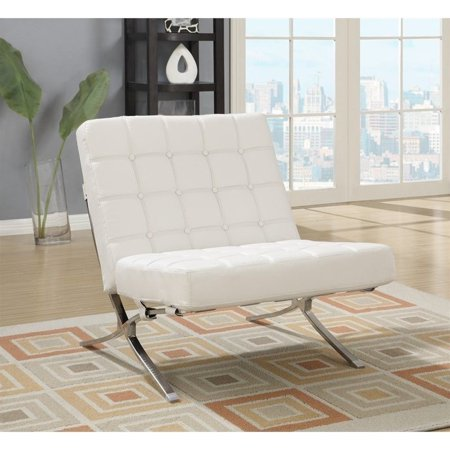 Astounding Global Furniture Natalie Leather Accent Chair In White Ibusinesslaw Wood Chair Design Ideas Ibusinesslaworg