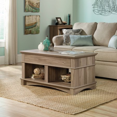 Sauder Harbor View Lift Top Coffee Table Salt Oak Finish