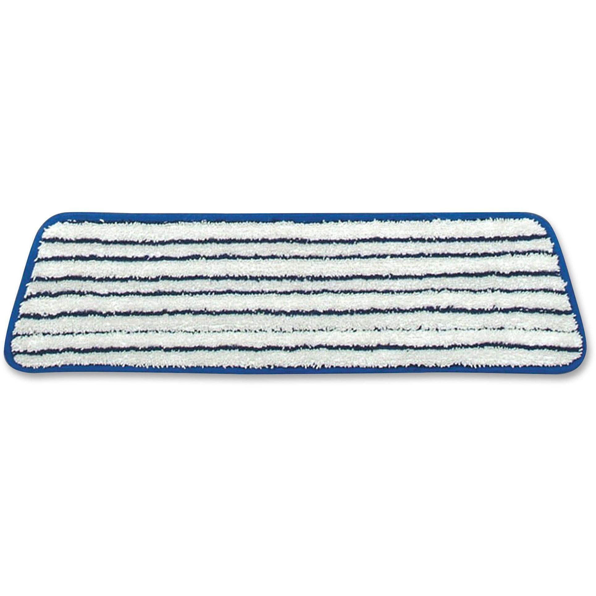 "Rubbermaid Commercial, RCPQ800WHI, 18"" Microfiber Finish Mop, 6 / Carton, Blue & White"