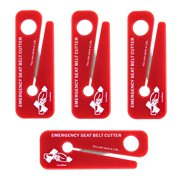 LINE2design Emergency Seat Belt Cutters - EMS Firefighter Car Safety Tool - Pack of 4