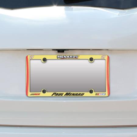 Paul Menard Wincraft Plastic License Plate Frame   No Size