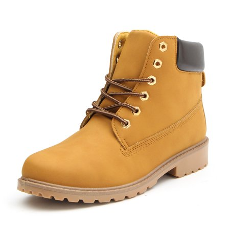 Women's Work Boots Leather Shoes Outdoor Combat Hiking High Top Snow Ankle Boot ()