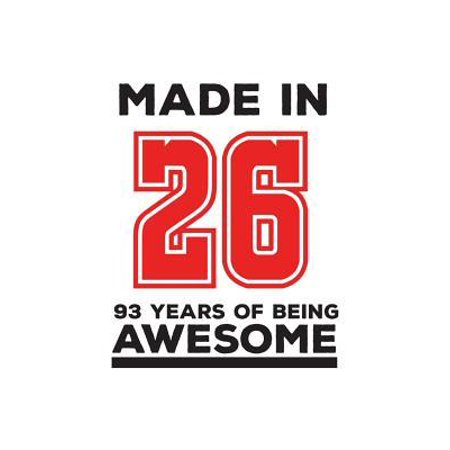 Made In 26 93 Years Of Being Awesome : Made In 26 93 Years Of Awesomeness Notebook - Happy 93rd Birthday Being Awesome Anniversary Gift Idea For 1926 Young Kid Boy or Girl! Doodle Diary Book From Dad Mom To Ninety Three Year Old Son (Gift Ideas For Autistic 3 Year Old)