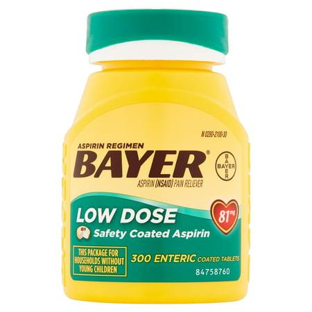 Bayer Low Dose Aspirin Regimen Enteric Coated Tablets  81 Mg  300 Ct