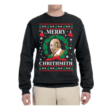 1396771f57e88a Wild Bobby - Merry Chrithmith Mike Tyson Mens Ugly Christmas Graphic ...