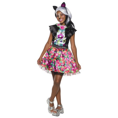 Enchantimals Sage Skunk Girls Halloween Costume - Skunk Skeleton