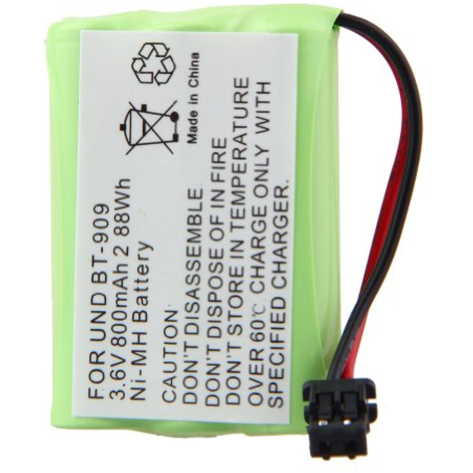 3.6V 800mAh Ni-MH Effective Office Cordless Phone Battery for Uniden: BT-909, DCT7383, DCT738-3T, DCT7383T,... by