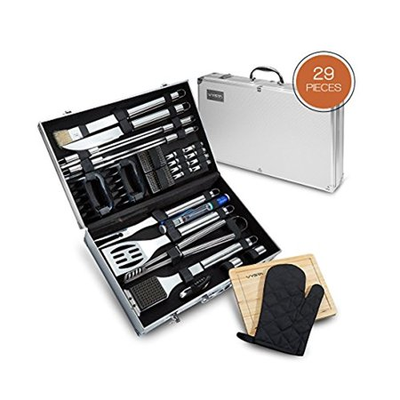Vysta 29 Piece Bbq Flix Tools Set Barbecue Accessories With Carrying Case Professional Grade