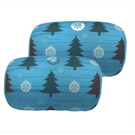 2 Pack Christmas Tree Micro Beads Tube Pillow Back Support