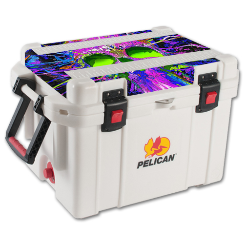 MightySkins Skin For Pelican 35 qt Cooler Lid | Protective, Durable, and Unique Vinyl Decal wrap cover | Easy To Apply, Remove, and Change Styles | Made in the USA
