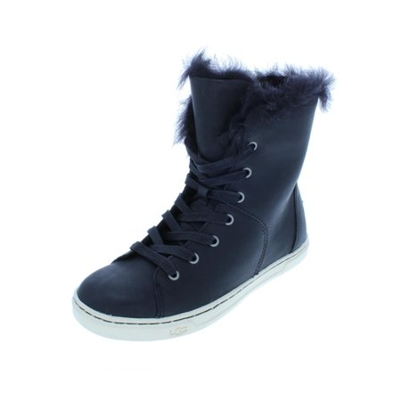 Ugg Womens Croft Leather Lamb Winter Boots (Ugg Leather Boots)