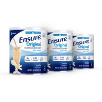 Ensure Original Nutrition Powder Vanilla for Meal Replacement 14.1 oz Cans (Pack of 3)