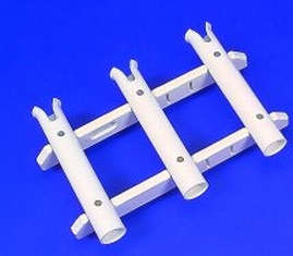 Click here to buy T. H. Marine Rod Rack 3 Rack Black RHRB-3B-DP by T. H. MARINE.