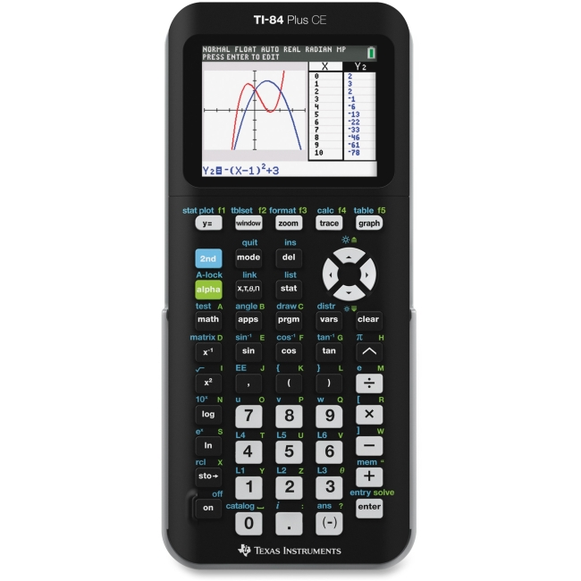 Texas Instruments TI-84 Plus C Graphing Calculator Backlit Display, Clock, Impact Resistant Cover Battery... by Texas Instruments, Inc