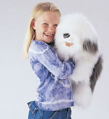 Folkmanis Sheepdog Hand Puppet 2029 by Folkmanis