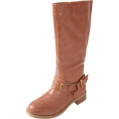 Brinley Co. - Women's Buckle Detail Tall Boots