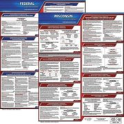 JJ KELLER 200-WI-K Labor Law Poster Kit, WI, Spanish, 19 In. W