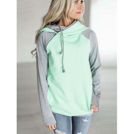 6bc28a74e Clothes for Women on Clearance! Women's Long Sleeve Pullover Hoodie for  Women, Zip Funnel Neck Hooded Sweatshirts for Juniors, Green Gift  Drawstring Hoody ...