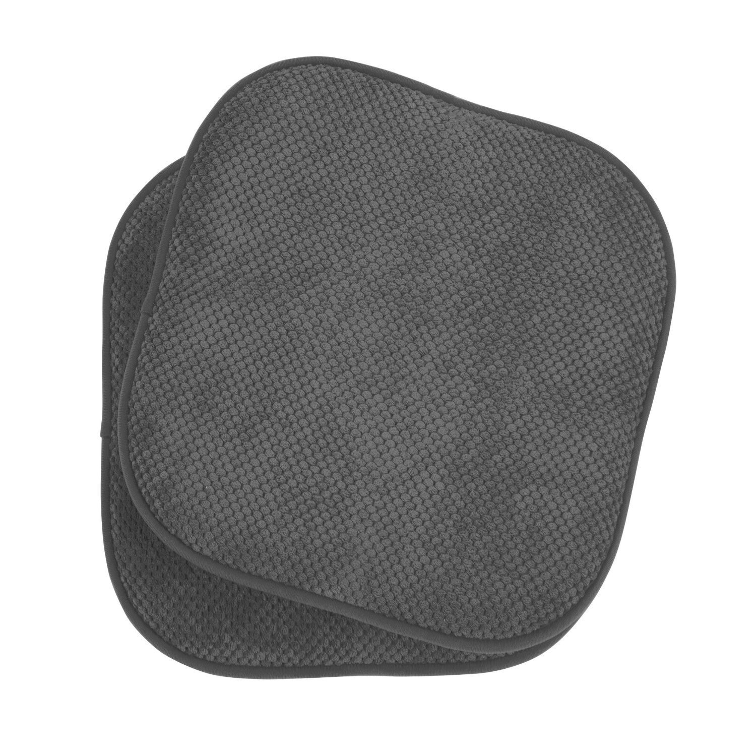 2 Pack: GoodGram Non Slip Ultra Comfort Memory Foam Chair Pads Charcoal by GoodGram