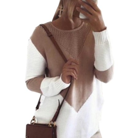 Women Winter Casual Knitwear Jumper Long Sleeve Pullover Tops Blouse Knitted Sweater