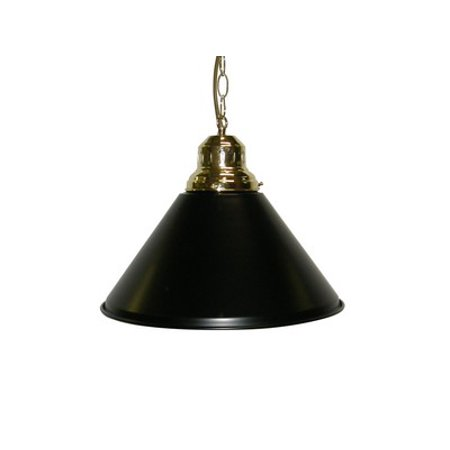- Game Room- Bar - Billiard - Pool Table Light - Pendant Brass W Metal Black Shade